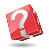 Signo de interrogación del cubo, ejemplo del vector Foto de archivo libre de regalías