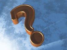 Signo de interrogación en azul Fotografía de archivo