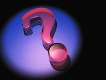 Signo de interrogación en púrpura Foto de archivo libre de regalías