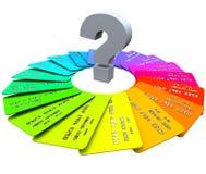 Signo de interrogación - tarjetas de crédito