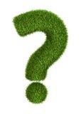 Signo de interrogación natural de la hierba Fotos de archivo libres de regalías