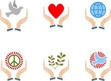 Signo de la paz Imágenes de archivo libres de regalías