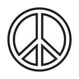 Signo de la paz stock de ilustración