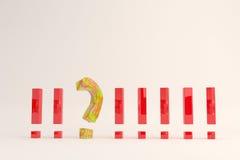 Signo del punto y de interrogación Imágenes de archivo libres de regalías
