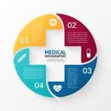 Signo más del círculo del vector infographic Plantilla para Imagen de archivo libre de regalías