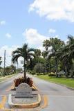 Signo positivo de las islas de la palma real Fotografía de archivo