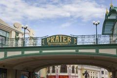 Signo positivo de Prater imagen de archivo libre de regalías