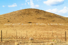 Signo positivo del solitario en Namibia Imagen de archivo