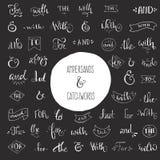 Signo '&' y lemas Foto de archivo libre de regalías