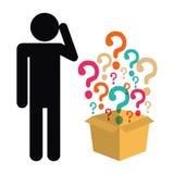 Signo y soluciones de interrogación Imagen de archivo libre de regalías