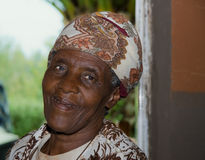 Signora africana Fotografia Stock Libera da Diritti
