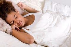 Signora africana addormentata Fotografia Stock Libera da Diritti