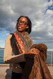 Signora africana ambiziosa Fotografia Stock