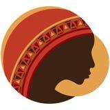 Signora africana della luna Fotografia Stock