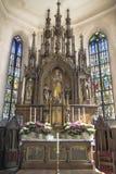 Signora Altar della chiesa bavarese antica Immagine Stock