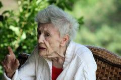 Signora anziana Immagini Stock