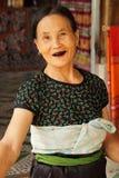Signora anziana allegra Fotografie Stock Libere da Diritti