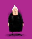 Signora anziana arrabbiata Fotografia Stock