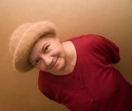 Signora anziana in cappello Fotografia Stock Libera da Diritti