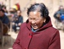 Signora anziana della Cina Fotografia Stock Libera da Diritti
