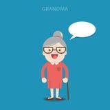 Signora anziana grandma fumetto Immagini Stock Libere da Diritti