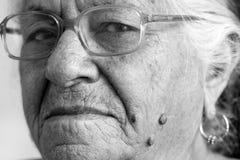 Signora anziana indiana Fotografie Stock