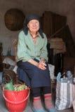 Signora anziana pacifica Fotografie Stock Libere da Diritti