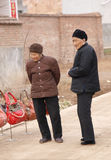 In signora anziana rurale esterna Fotografie Stock