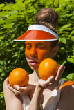 Signora arancio Fotografie Stock