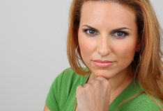 Signora attraente Fotografia Stock