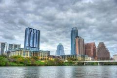 Signora Bird Lake e orizzonte, Austin, il Texas Fotografia Stock Libera da Diritti