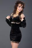 Signora In Black Fotografia Stock Libera da Diritti