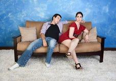 Signora With Boyfriend immagine stock