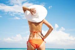 Signora in cappello Fotografia Stock Libera da Diritti