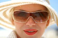Signora in cappello Fotografia Stock