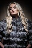 Signora in cappotto di pelliccia Fotografie Stock Libere da Diritti