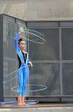 Signora - Caterpillar con i cerchi Fotografia Stock Libera da Diritti