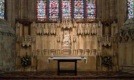 Signora Chapel Altar nella cattedrale di pozzi fotografia stock