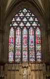 Signora Chapel Wells Cathedral del vetro macchiato immagini stock