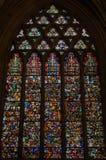 Signora Chapel Wells Cathedral A del vetro macchiato immagine stock