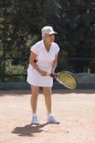 Signora che gioca tennis Immagine Stock Libera da Diritti