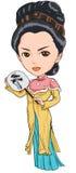 Signora cinese Immagini Stock