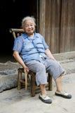 Signora cinese anziana a Daxu Fotografia Stock Libera da Diritti