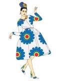 Signora Coco illustrazione vettoriale
