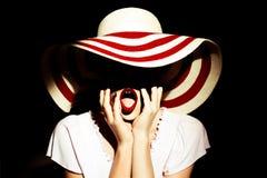 Signora con il cappello Fotografia Stock Libera da Diritti