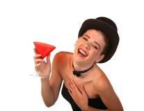 Signora con il cocktail Fotografie Stock