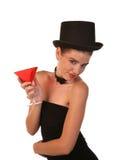 Signora con il cocktail Immagine Stock Libera da Diritti