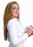 Signora con il rilievo di nota. fotografie stock libere da diritti