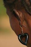 Signora con l'orecchino Immagini Stock Libere da Diritti
