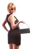 Signora con la borsa Fotografie Stock Libere da Diritti